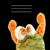 Vektorillustration des lustigen Monsters in den Dreiecken Stockfotos