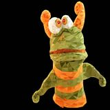 Vektorillustration des lustigen Monsters in den Dreiecken Stockfoto