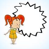 Vektorillustration des Mädchens mit dem roten Haar Stockfoto