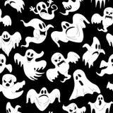 Vektorillustration des nahtlosen Musters mit Halloween lizenzfreies stockbild