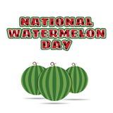 Vektorillustration des nationalen Wassermelonentages Stockfoto
