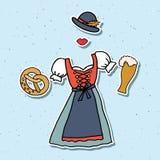Vektorillustration des Oktoberfest-Elementsatzes Stockfotografie