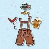 Vektorillustration des Oktoberfest-Elementsatzes Lizenzfreie Stockfotos