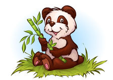 Vektorillustration des Pandas in der Karikaturart Stockfotografie