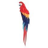 Vektorillustration des Papageien auf weißem Hintergrund Lizenzfreies Stockbild