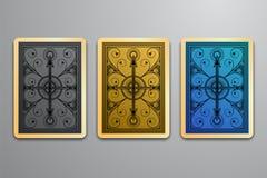 Vektorillustration des Rückseitemusters der Spielkarte vektor abbildung