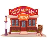 Vektorillustration des Restaurants und der Bistros Lizenzfreie Stockfotografie