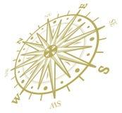 Rosafarbener Kompass des Winds lokalisiert auf Weiß Stockfotografie