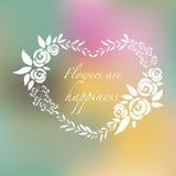 Vektorillustration des Schattenbildblumensatzes Rosen und Kräuter Stockfoto