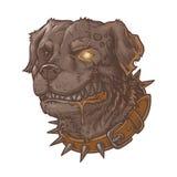 Vektorillustration des schlechten tollwütigen Hundes Stockfoto