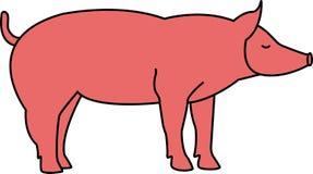 Vektorillustration des Schweinschattenbildes stock abbildung