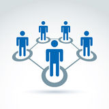 Vektorillustration des Sozialen Netzes, Leute-Verhältnis Stockfotografie