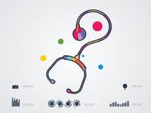 Vektorillustration des Stethoskops Stockfotos