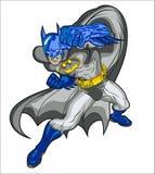 Vektorillustration des Superhelden Vektorbatman stock abbildung