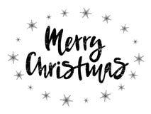 Vektorillustration des Textes der frohen Weihnachten für Kalender, Typografieplakat, Grußkarte oder Postkarte vektor abbildung