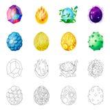 Vektorillustration des Tier- und prähistorischen Logos Stellen Sie von der Tier- und netten Vektorikone für Vorrat ein stock abbildung
