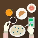 Vektorillustration des traditionellen Frühstücks Stock Abbildung