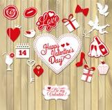 Vektorillustration des Valentinsgrußes Stockfoto
