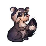 Vektorillustration des Waschbären in der Karikaturart Lizenzfreie Stockfotos
