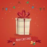 Vektorillustration des Weihnachtsgeschenks Geschenk des neuen Jahres Stockfotografie
