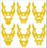 Vektorillustration einer gelben Samuraimaske stockfoto