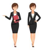 Vektorillustration einer jungen lächelnden Geschäftsfrau Lizenzfreies Stockbild
