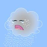 Vektorillustration einer netten schreienden Wolke Lizenzfreie Stockbilder