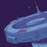 Vektorillustration einer Raumstation Stockfoto
