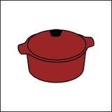 Vektorillustration einer roten Wanne Stockfotos