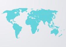 Vektorillustration einer Weltkarte kreist ein Stockfoto