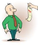 Vektorillustration einer Zeichentrickfilm-Figur Mann stock abbildung