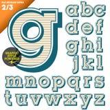 Vektorillustration eines altmodischen Alphabetes Stockfotos