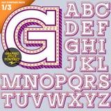 Vektorillustration eines altmodischen Alphabetes Stockfotografie