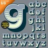 Vektorillustration eines altmodischen Alphabetes Stockbilder
