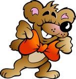 Vektorillustration eines glücklichen Partei-Bären Stockbilder