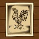 Vektorillustration eines Hahnes Stockbilder