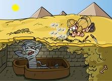Vektorillustration eines Karikaturzombies Lizenzfreies Stockfoto