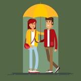 Vektorillustration eines liebevollen Paares Stockbilder