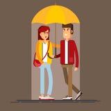 Vektorillustration eines liebevollen Paares Lizenzfreie Stockbilder