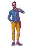 Vektorillustration eines modernen Kerls Lizenzfreie Stockbilder