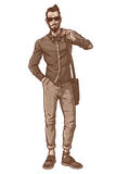 Vektorillustration eines modernen Kerls Stockbilder