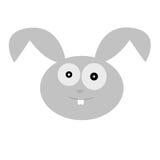 Vektorillustration eines netten Kaninchenkopfes Lizenzfreies Stockfoto