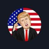 Vektorillustration eines Porträts von Donald John Trump Lizenzfreie Stockfotografie