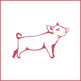 Vektorillustration eines Schweins Stockfotos