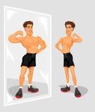 Vektorillustration eines Sportlers Stockbilder
