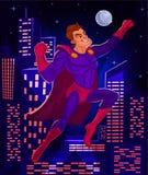 Vektorillustration eines Supermannes Stockbilder