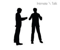 Vektorillustration ENV 10 des Mannes in der Gespräch Intimate-Gesprächshaltung auf weißem Hintergrund lizenzfreie abbildung