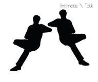 Vektorillustration ENV 10 des Mannes in der Gespräch Intimate-Gesprächshaltung auf weißem Hintergrund stock abbildung