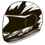 Vektorillustration ENV Sturzhelmradfahrer Stockfotos