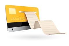 Kreditkarte auf weißem Hintergrund Stockfotografie